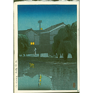 Hasui Kawase - Ishizue, Niigata - Japanese Woodblock Print