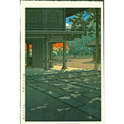 Kawase Hasui - Heirin Temple - First Edition Japanese Woodblock Print
