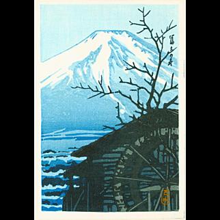 Kawase Hasui - Mount Fuji in Winter - Japanese Woodblock Print