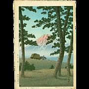 Kawase Hasui - Evening at Tagonoura - Japanese Woodblock Print