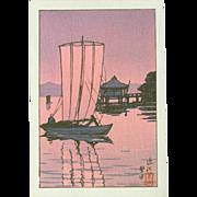 Kawase Hasui - Katada in Ohmi - Japanese Woodblock Print
