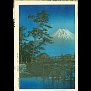 Kawase Hasui - Moonlight Kawaibashi 1st Ed. - Japanese Woodblock Print