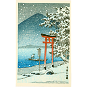 Kawase Hasui - Chuzenji Lake, Nikko - Japanese Woodblock Print