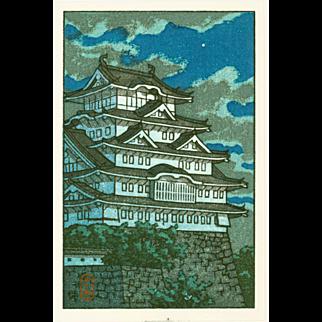 Kawase Hasui - Himeji Castle - Japanese Woodblock Print