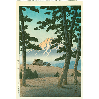 Kawase Hasui - Evening at Tagonoura - Japanese Woodblock Print
