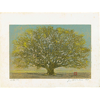 Joichi Hoshi - Great Tree 1975 - Japanese Woodblock Print