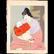 Paul Jacoulet - The Treasure, Korea - Japanese Woodblock Print