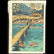 Shiro Kasamatsu - Musashi Arashiyama - Japanese Woodblock Print