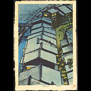 Shiro Kasamatsu - Riverside - Limited Edition Japanese Woodblock Print