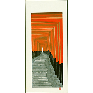 Teruhide Kato - Senbon Torii - Japanese Woodblock Print