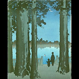 Shoda Koho - Ueno Park- Hasegawa Night Scenes - Japanese Woodblock Print