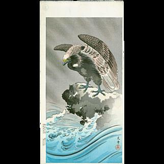 Tsuchiya Koitsu - Eagle - Japanese Woodblock Print