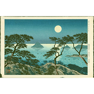 Koichi Okumura - Evening at Washiuzan - Japanese Woodblock Print