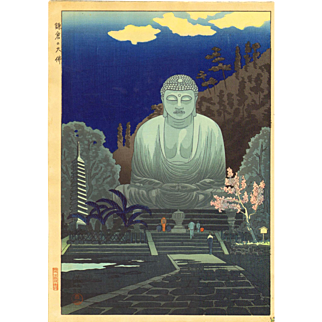 Gihachiro Okuyama - Great Buddha - Japanese Woodblock Print
