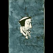 Sadao Watanabe Japanese Stencil Print - John Calvin 1963 - RARE