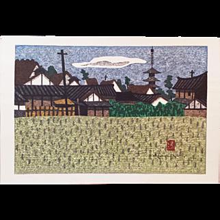Kiyoshi Saito - Village - Japanese Woodblock Print