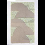Sakiko Ide - Chrysanthemum and Flowing Water II - Serigraph (Silkscreen) Print