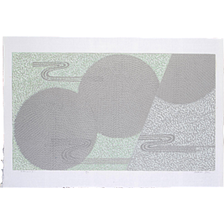 Sakiko Ide Silkscreen Print - Chrysanthemum and Flowing Water I (Kikusui I)