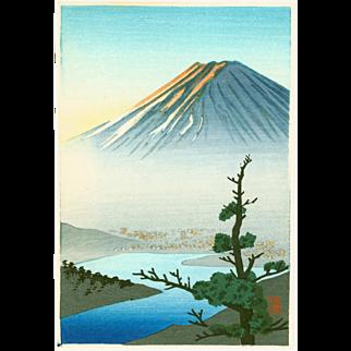 Shien - Mount Fuji and River - Japanese Woodblock Print