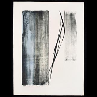 Toko Shinoda - Echo - Lithograph with Sumi-e Brushstrokes
