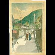 Nomura Yoshimitsu - Sannen Hill, Kyoto - Limited Ed. Japanese Woodblock Print