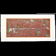 Yuichi Hasegawa - Record of Wind Erosion (Red) - Japanese Woodblock Print