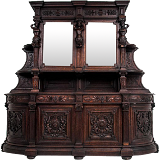 A majestic sideboard from around 1880.