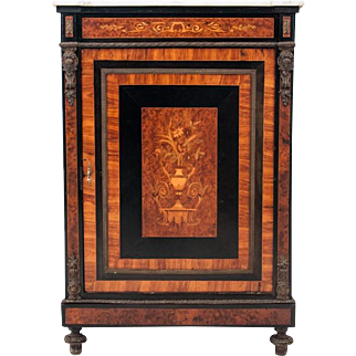 Intarsian cabinet from the late nineteenth century.