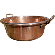 19th Century French Copper Jam Pan. Massive Chateau Jelly / Preserves Pan