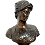 French Neo-Classical Bronze Bust. Gladiator. c.1900