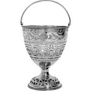 Antique Sterling Silver Sugar Basket. English Silver.Hester Bateman c.1786