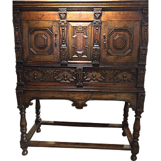 18th Century Charles II Oak Credence