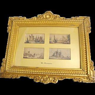 William Gawin Herdman Antique British Watercolor Paintings