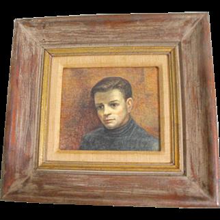Dudley Henry Jr. Morris Oil on Board Portrait of a Gentlemen / Man Bust Painting