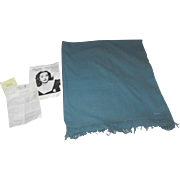 Hermes Blue Cashmere Throw given to Bette Davis by Elizabeth Taylor for Christmas in 1988