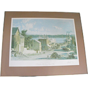 "John Stobart ""Hannibal - A View from Mark Twain's Boyhood Home"" Lithograph Print"