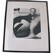 Bill Brandt Silver Gelatin Photo Photograph of Sculptor Henry Moore in His Studio