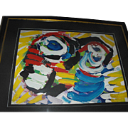 Karel Appel Signed Limited Edition Abstract Lithograph Print