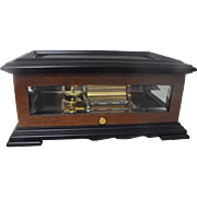 Reuge Burl Wood and Glass Music Box