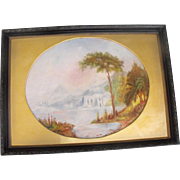 Antique 19th C. Oil on Canvas Chicago Landscape Painting