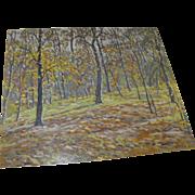 "James Knox (Scottish / American) Oil on Panel Spring Landscape Painting ""Morning Light"""
