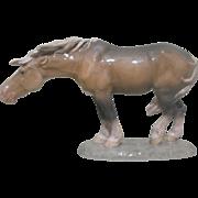 Royal Copenhagen Porcelain Horse Figural Figurine 1362 Designed by Lauritz Jensen