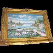 John Clymer (1932) Oil on Canvas Spring River Landscape Painting