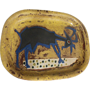 Marcel Janco (Israeli/Romanian) Judaica Ceramic Art Pottery Goat Platter / Tray