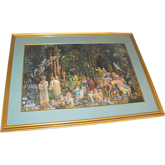 """James Christensen """"Court of Faeries"""" Signed Lithograph Print"""