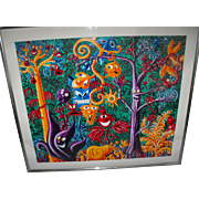"Kenny Scharf (American) ""Juicy Jungle"" Screenprint"