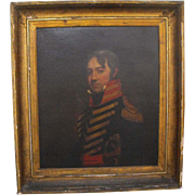 After Gilbert Stuart Antique 19th C. Oil on Canvas Portrait of General Painting