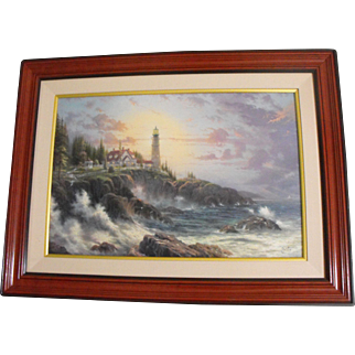 """Thomas Kinkade """"Clearing Storms"""" Artist Proof Giclee Print on Canvas"""