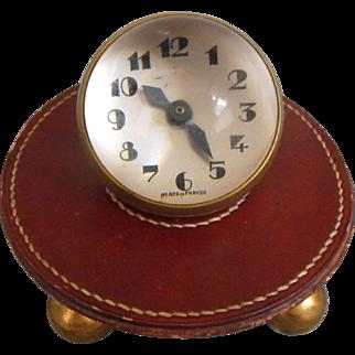 Rare Antique 19th C. French Art Deco CH. (Charles) Hour Ball Desk / Travel Clock