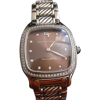 David Yurman Ladies Thoroughbred Diamond Wrist-Watch